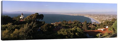 Aerial view of a coastline, Los Angeles Basin, City of Los Angeles, Los Angeles County, California, USA Canvas Art Print