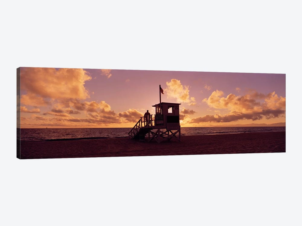 Lifeguard hut on the beach, 22nd St. Lifeguard Station, Redondo Beach, Los Angeles County, California, USA by Panoramic Images 1-piece Canvas Artwork