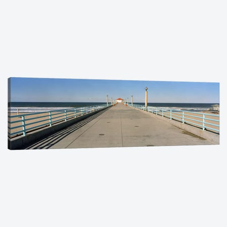 Hut on a pierManhattan Beach Pier, Manhattan Beach, Los Angeles County, California, USA Canvas Print #PIM6888} by Panoramic Images Canvas Wall Art