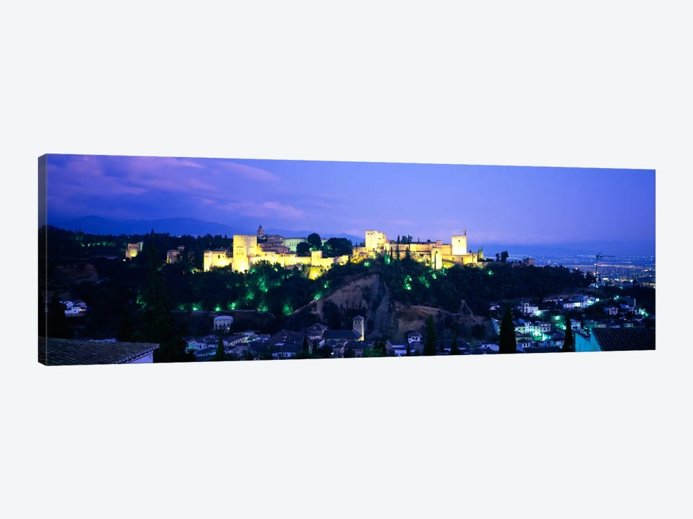 An Illuminated Alhambra At Night, Granada, Andalusia, Spain by Panoramic Images 1-piece Canvas Art
