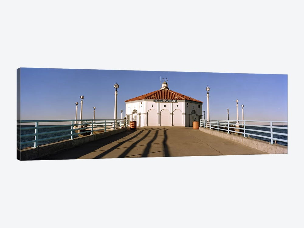 Building on a pier, Manhattan Beach Pier, Manhattan Beach, Los Angeles County, California, USA by Panoramic Images 1-piece Canvas Art