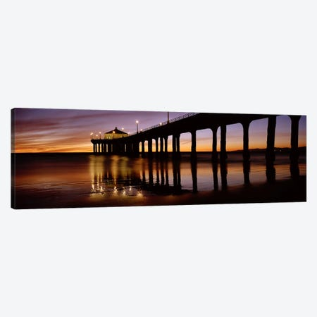 Low angle view of a pier, Manhattan Beach Pier, Manhattan Beach, Los Angeles County, California, USA #2 Canvas Print #PIM6893} by Panoramic Images Canvas Art Print