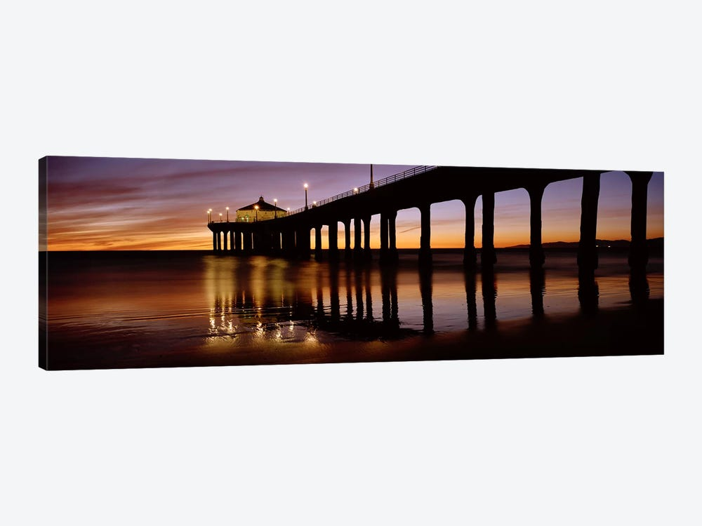 Low angle view of a pier, Manhattan Beach Pier, Manhattan Beach, Los Angeles County, California, USA #2 by Panoramic Images 1-piece Canvas Art Print