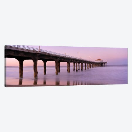 Low angle view of a pier, Manhattan Beach Pier, Manhattan Beach, Los Angeles County, California, USA #3 Canvas Print #PIM6894} by Panoramic Images Canvas Art