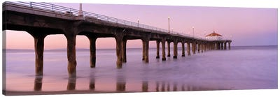 Low angle view of a pier, Manhattan Beach Pier, Manhattan Beach, Los Angeles County, California, USA #3 Canvas Print #PIM6894