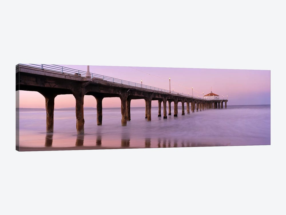 Low angle view of a pier, Manhattan Beach Pier, Manhattan Beach, Los Angeles County, California, USA #3 by Panoramic Images 1-piece Canvas Wall Art