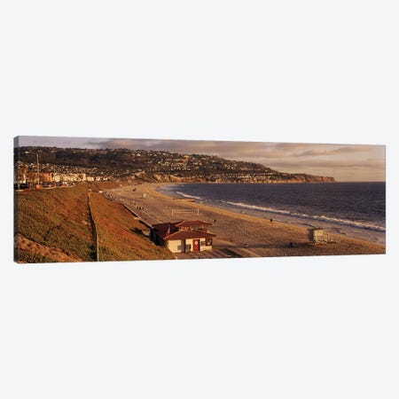 High angle view of a coastlineRedondo Beach, Los Angeles County, California, USA Canvas Print #PIM6895} by Panoramic Images Canvas Artwork