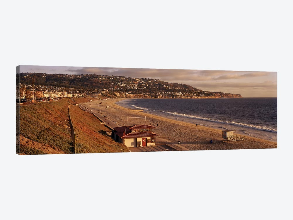 High angle view of a coastlineRedondo Beach, Los Angeles County, California, USA by Panoramic Images 1-piece Canvas Print