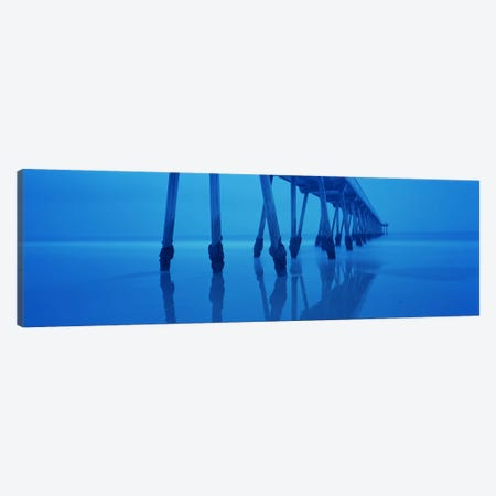Support Pillars At Dawn, Hermosa Beach Pier, Hermosa Beach, California, USA Canvas Print #PIM6897} by Panoramic Images Canvas Artwork