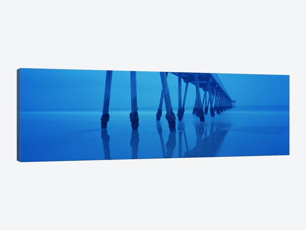 Support Pillars At Dawn, Hermosa Beach Pier, Hermosa Beach, California, USA by Panoramic Images 1-piece Canvas Art Print