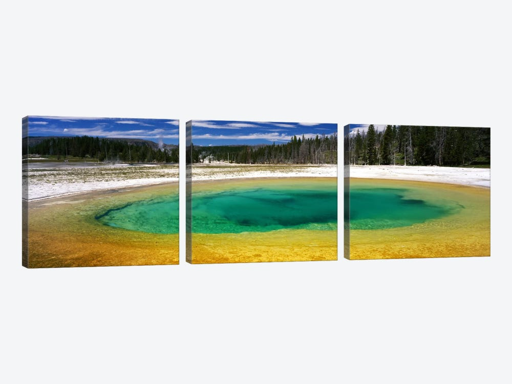 Beauty Pool, Upper Geyser Basin, Yellowstone National Park, Wyoming, USA by Panoramic Images 3-piece Canvas Art Print