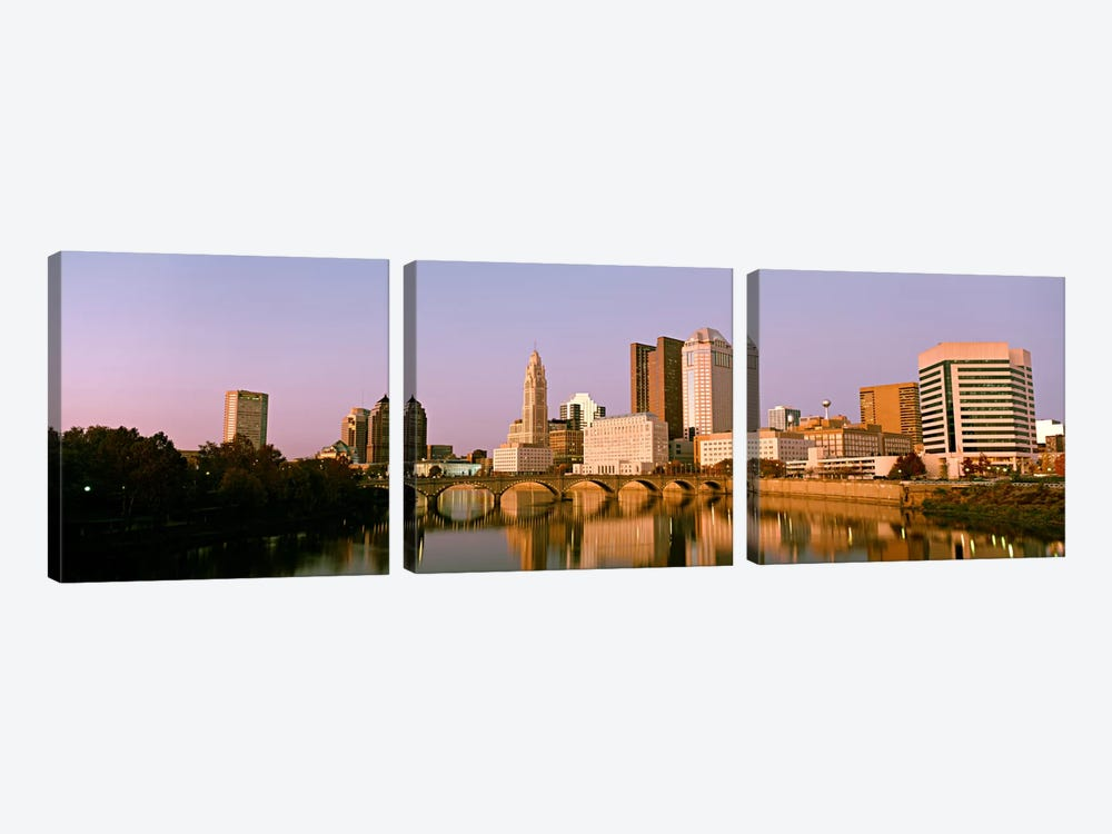 Scioto River Columbus OH by Panoramic Images 3-piece Canvas Artwork