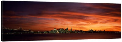 Buildings in a city, View from Treasure Island, San Francisco, California, USA Canvas Art Print
