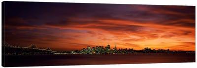 Buildings in a city, View from Treasure Island, San Francisco, California, USA Canvas Print #PIM6907