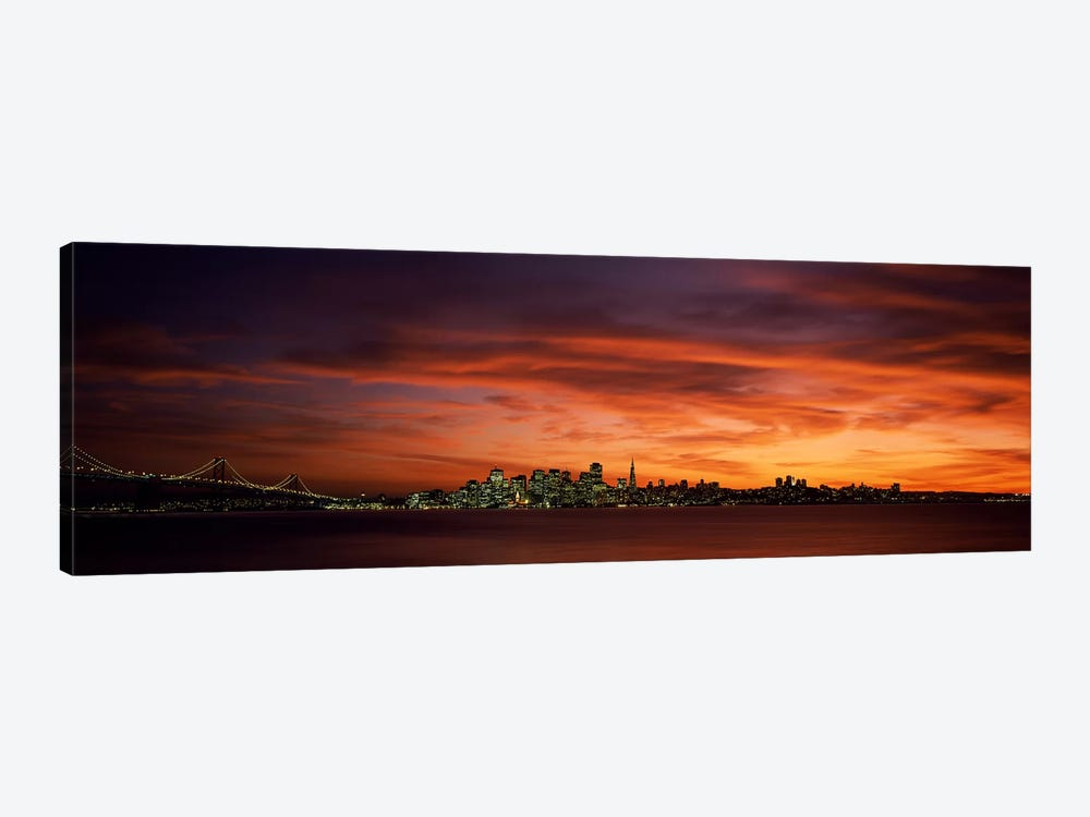 Buildings in a city, View from Treasure Island, San Francisco, California, USA by Panoramic Images 1-piece Art Print