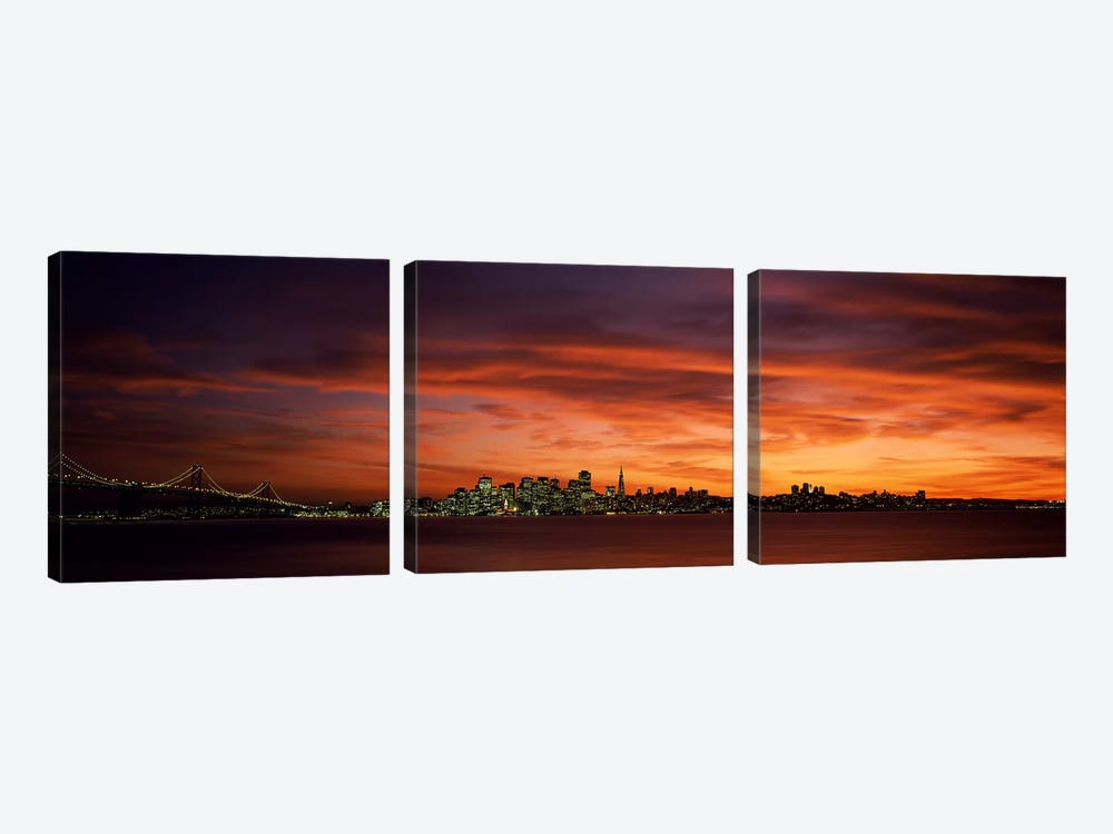 Buildings in a city, View from Treasure Island, San Francisco, California, USA by Panoramic Images 3-piece Art Print