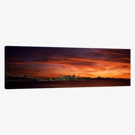 Buildings in a city, View from Treasure Island, San Francisco, California, USA Canvas Print #PIM6907} by Panoramic Images Canvas Art