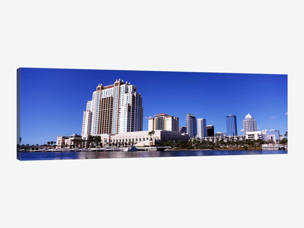 Skyscrapers at the waterfront, Tampa, Hillsborough County, Florida, USA by Panoramic Images 1-piece Art Print