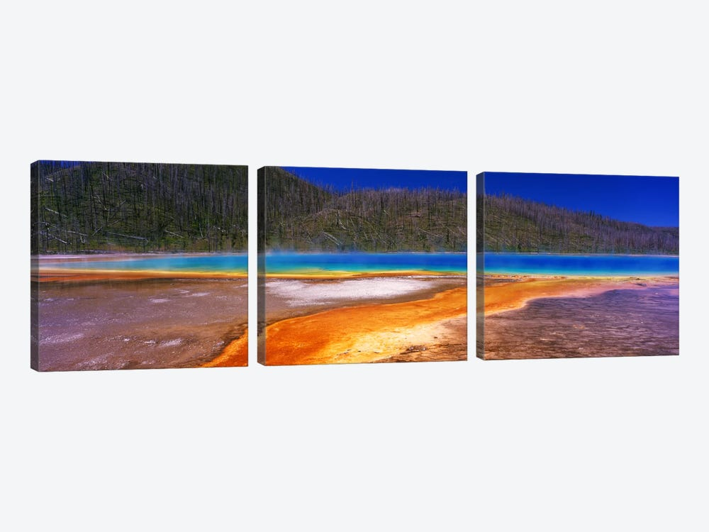 Grand Prismatic SpringYellowstone National Park, Wyoming, USA 3-piece Art Print