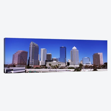 Skyscrapers in a city, Tampa, Florida, USA Canvas Print #PIM6910} by Panoramic Images Canvas Art