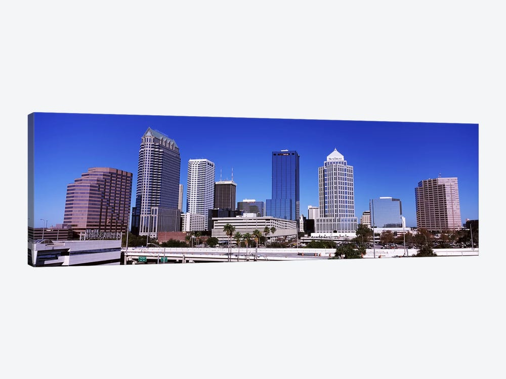 Skyscrapers in a city, Tampa, Florida, USA by Panoramic Images 1-piece Art Print