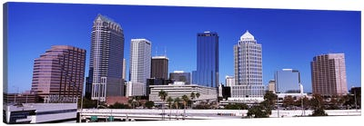 Skyscrapers in a city, Tampa, Florida, USA Canvas Art Print
