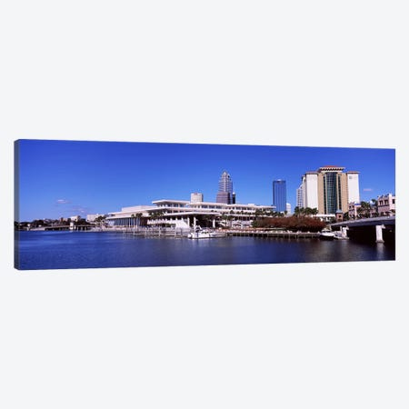 Skyscrapers at the waterfront, Tampa, Florida, USA Canvas Print #PIM6911} by Panoramic Images Canvas Wall Art