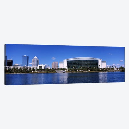 Buildings at the waterfront, St. Pete Times Forum, Tampa, Florida, USA Canvas Print #PIM6912} by Panoramic Images Canvas Wall Art
