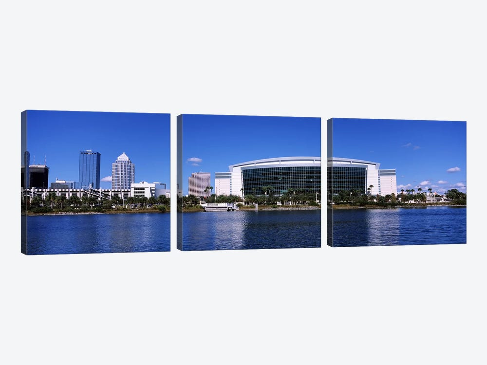 Buildings at the waterfront, St. Pete Times Forum, Tampa, Florida, USA by Panoramic Images 3-piece Canvas Print