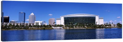 Buildings at the waterfront, St. Pete Times Forum, Tampa, Florida, USA Canvas Art Print