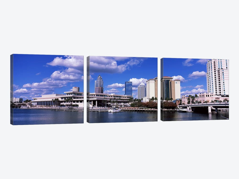Buildings at the coast, Tampa, Hillsborough County, Florida, USA by Panoramic Images 3-piece Canvas Art