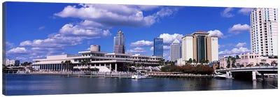 Buildings at the coast, Tampa, Hillsborough County, Florida, USA Canvas Art Print
