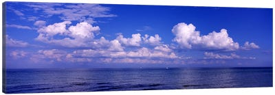 Clouds over the sea, Tampa Bay, Gulf Of Mexico, Anna Maria Island, Manatee County, Florida, USA #2 Canvas Art Print
