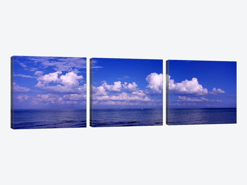 Clouds over the sea, Tampa Bay, Gulf Of Mexico, Anna Maria Island, Manatee County, Florida, USA #2 3-piece Canvas Art