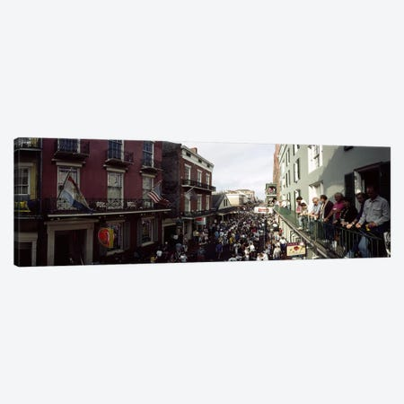 Group of people participating in a parade, Mardi Gras, New Orleans, Louisiana, USA Canvas Print #PIM6918} by Panoramic Images Canvas Artwork