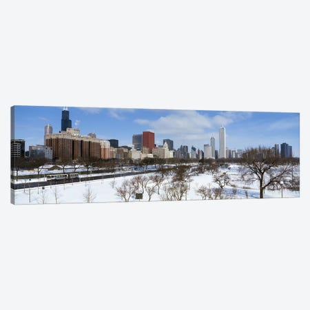 Skyscrapers in a cityGrant Park, South Michigan Avenue, Chicago, Illinois, USA Canvas Print #PIM6922} by Panoramic Images Art Print