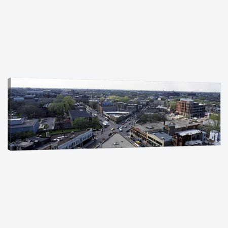 Aerial view of crossroad of six cornersFullerton Avenue, Lincoln Avenue, Halsted Avenue, Chicago, Illinois, USA Canvas Print #PIM6923} by Panoramic Images Canvas Print