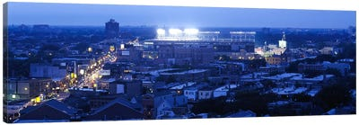 Aerial view of a cityWrigley Field, Chicago, Illinois, USA Canvas Art Print