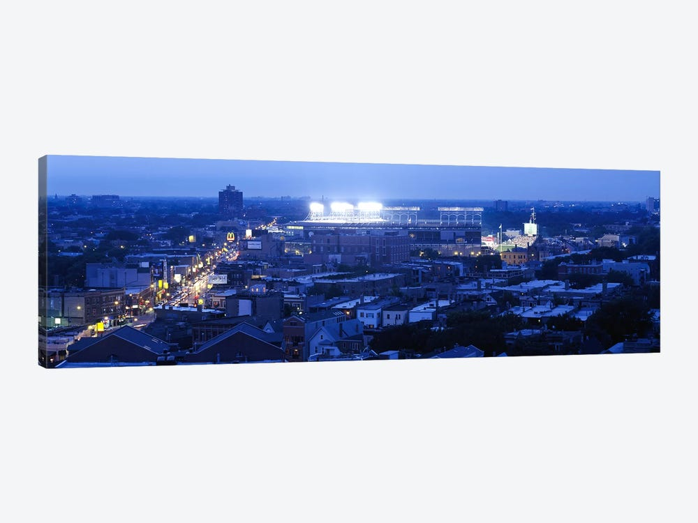 Aerial view of a cityWrigley Field, Chicago, Illinois, USA by Panoramic Images 1-piece Canvas Art