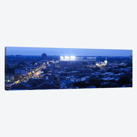 Aerial view of a cityWrigley Field, Chicago, Illinois, USA Canvas Print #PIM6924} by Panoramic Images Canvas Artwork