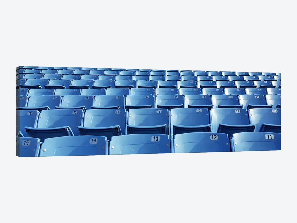 Empty blue seats in a stadiumSoldier Field, Chicago, Illinois, USA by Panoramic Images 1-piece Canvas Art