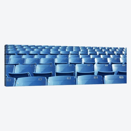 Empty blue seats in a stadiumSoldier Field, Chicago, Illinois, USA 3-Piece Canvas #PIM6926} by Panoramic Images Canvas Art