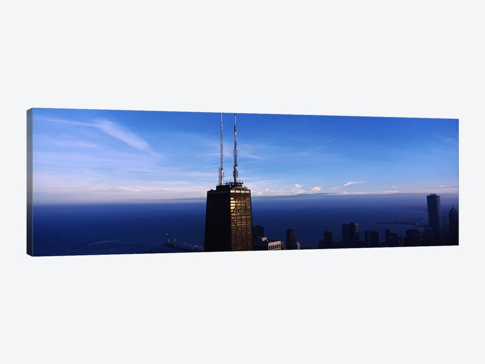 Skyscrapers in a cityHancock Building, Chicago, Cook County, Illinois, USA by Panoramic Images 1-piece Art Print