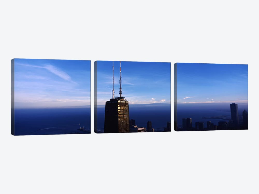 Skyscrapers in a cityHancock Building, Chicago, Cook County, Illinois, USA by Panoramic Images 3-piece Art Print