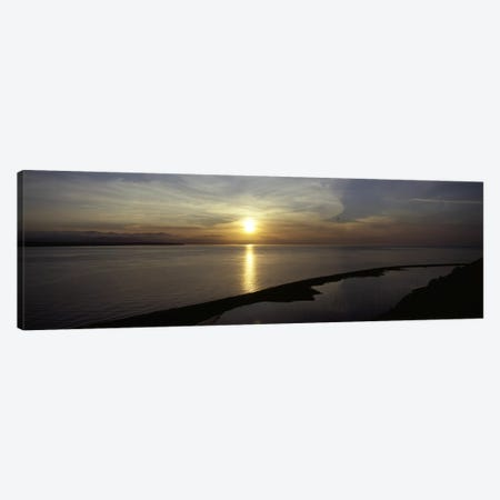 Sunset over the seaEbey's Landing National Historical Reserve, Whidbey Island, Island County, Washington State, USA Canvas Print #PIM6939} by Panoramic Images Canvas Wall Art