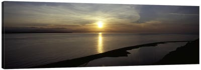 Sunset over the seaEbey's Landing National Historical Reserve, Whidbey Island, Island County, Washington State, USA Canvas Print #PIM6939