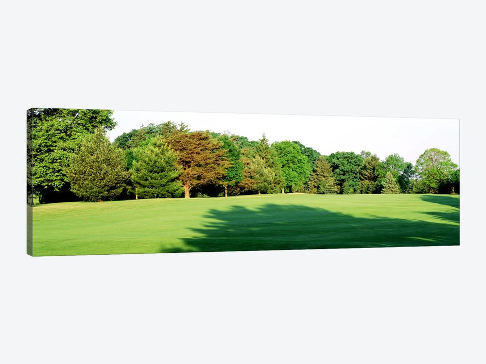 Trees on a golf courseWoodholme Country Club, Baltimore, Maryland, USA by Panoramic Images 1-piece Canvas Artwork