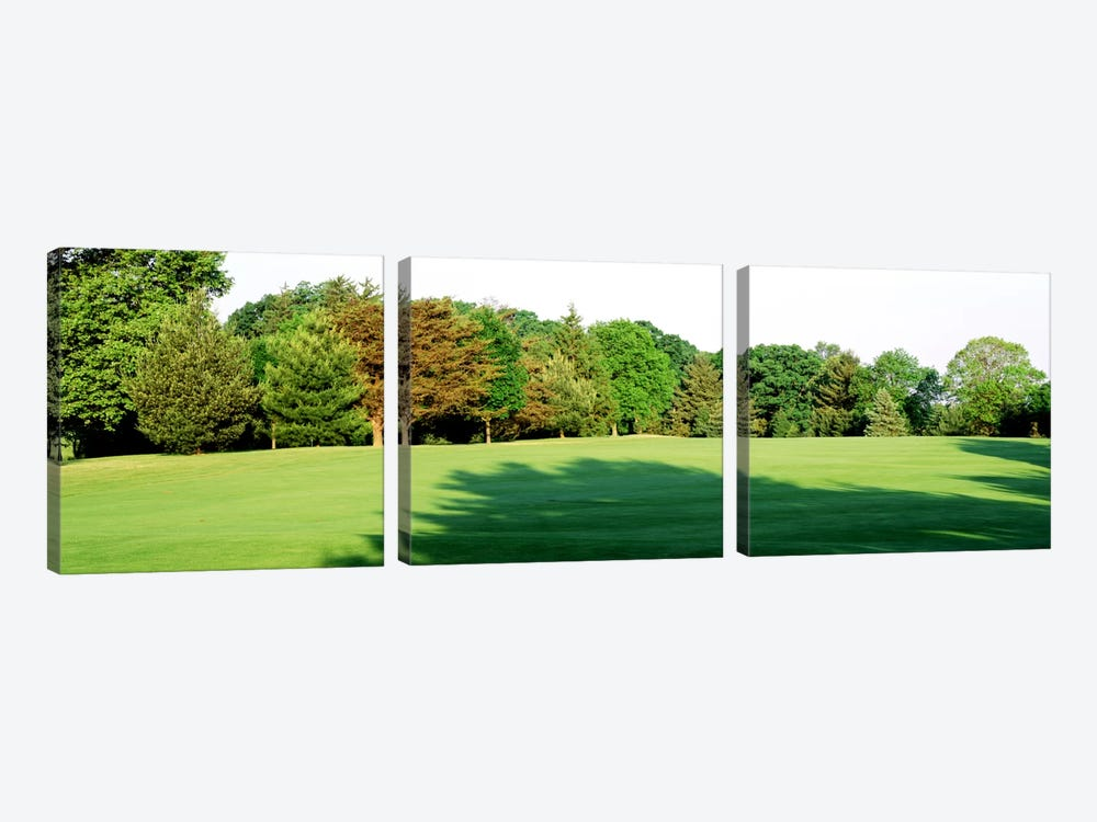 Trees on a golf courseWoodholme Country Club, Baltimore, Maryland, USA by Panoramic Images 3-piece Canvas Wall Art
