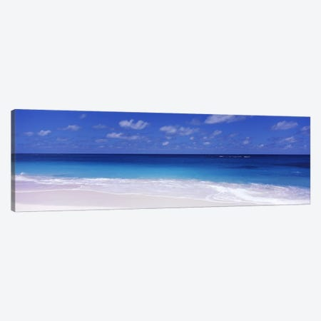 Cloudy Seascape, Shoal Bay Beach, Shoal Bay Village, Anguilla, Leeward Islands, Lesser Antilles Canvas Print #PIM6943} by Panoramic Images Canvas Print