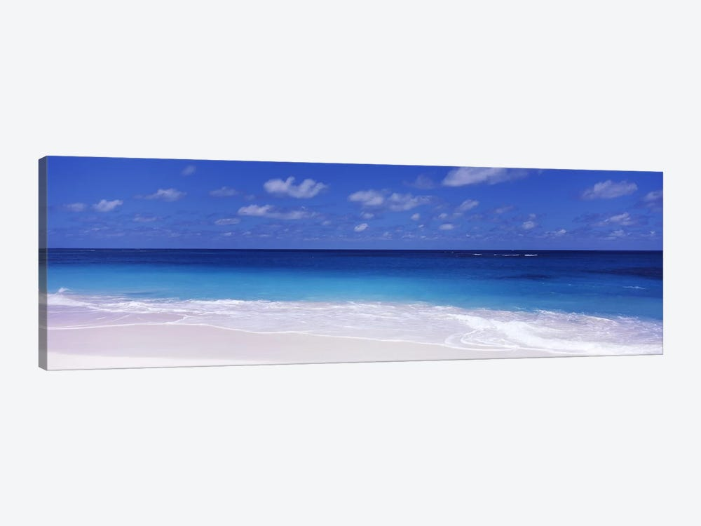 Cloudy Seascape, Shoal Bay Beach, Shoal Bay Village, Anguilla, Leeward Islands, Lesser Antilles by Panoramic Images 1-piece Canvas Art Print